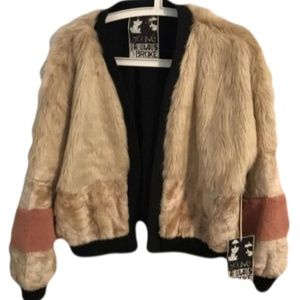 Young Fabulous & Broke Faux Fur Jacket Large New
